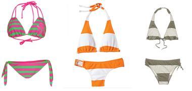 Stripped bikini holiday fashion