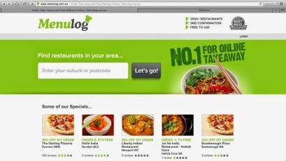 menulog home page